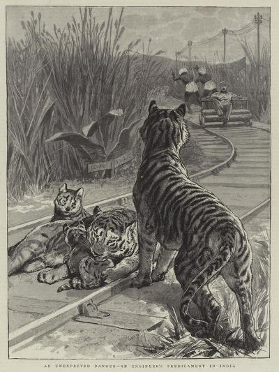 An Unexpected Danger, an Engineer's Predicament in India--Giclee Print