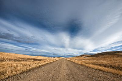 An Uninhabited Gravel Road and Picturesque Landscape-Jim Reed-Photographic Print