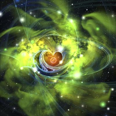 An Unusual Nebula in the Cosmos Has a Heart at its Center--Art Print