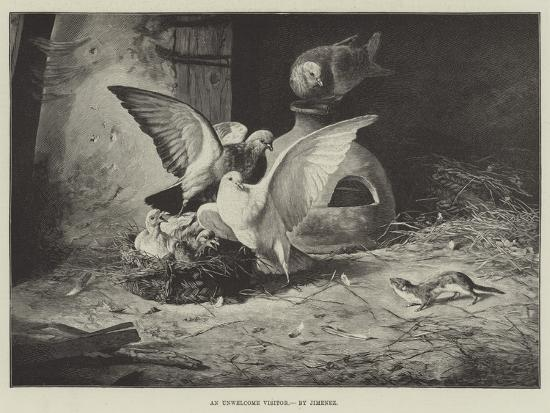 An Unwelcome Visitor--Giclee Print