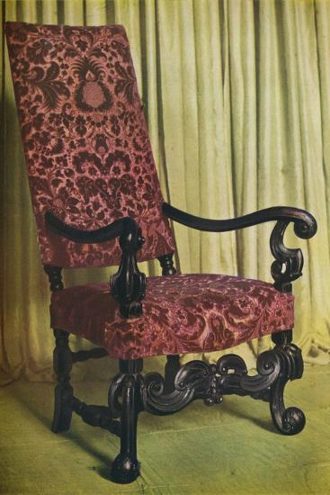'An Upholstered Arm Chair', c1680-Unknown-Photographic Print
