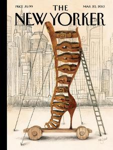 The New Yorker Cover - March 25, 2013 by Ana Juan