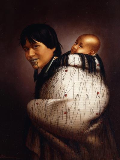 Ana Rupene and Child-Gottfried Lindauer-Giclee Print