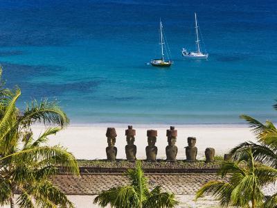 Anakena Beach, Rapa Nui, Chile-Gavin Hellier-Photographic Print
