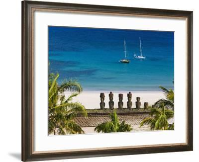 Anakena Beach, Rapa Nui, Chile-Gavin Hellier-Framed Photographic Print