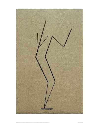 Analytical Drawing after Photos of Dancing, 1925-Wassily Kandinsky-Giclee Print