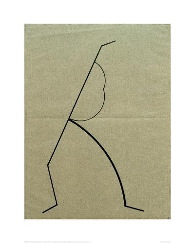 Analytical Drawing after Photos of Dancing 2, 1925-Wassily Kandinsky-Giclee Print