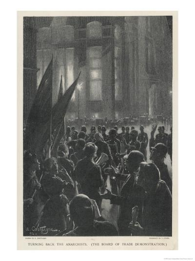 Anarchist Demonstration in Chicago-Andre Castaigne-Giclee Print