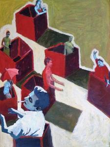 Red Boxes, 2016 by Anastasia Lennon