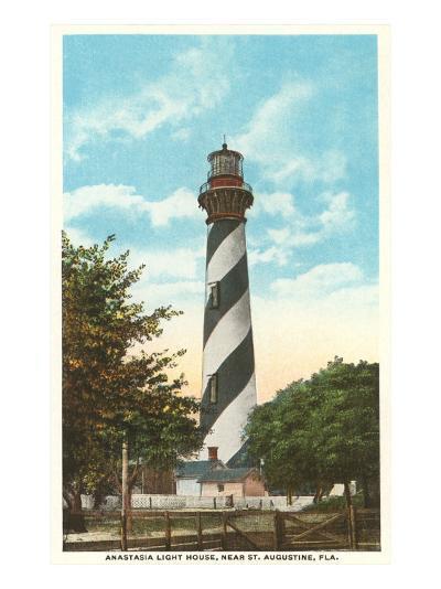 Anastasia Lighthouse, St. Augustine, Florida--Art Print