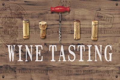 Wine Tasting Reclaimed Wood Sign