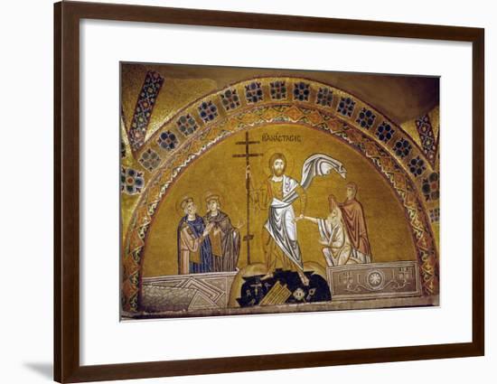 Anastasis, Christ Descending into Limbo, Saves Adam, Eve, King David and King Solomon--Framed Giclee Print