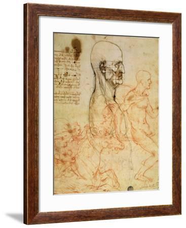 Anatomical Studies, circa 1500-07-Leonardo da Vinci-Framed Giclee Print