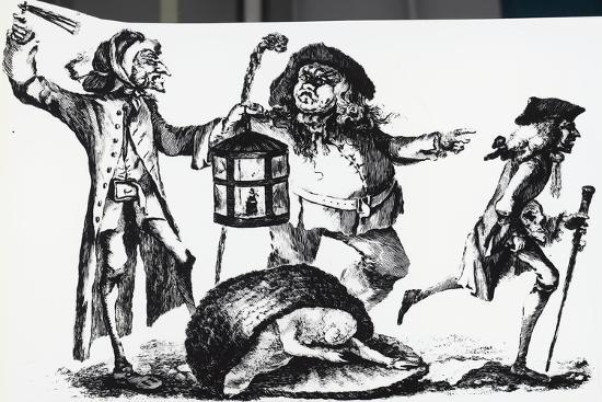 Anatomist Surprised by the Nightwatch Man While Transporting a Corpse in a Basket--Giclee Print