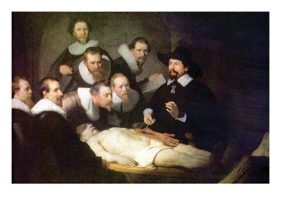 Anatomy of Dr. Tulp-Rembrandt van Rijn-Art Print