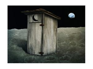 Outhouse On The Moon by anatomyofrockthe