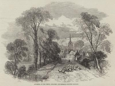 Ancaster, on the Boston, Sleaford, and Midland Counties Railway-Samuel Read-Giclee Print