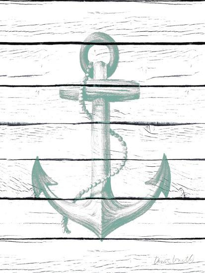 Anchor on Wood-Lanie Loreth-Art Print