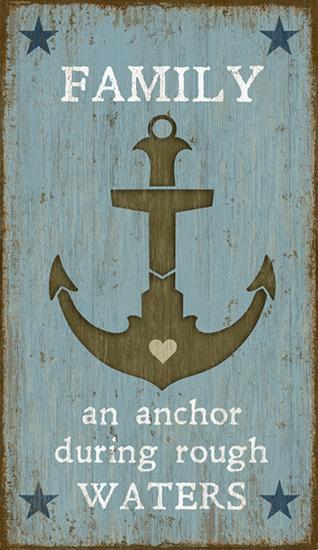 Anchor--Wood Sign