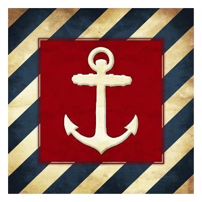 Anchored Stripes-Jace Grey-Art Print