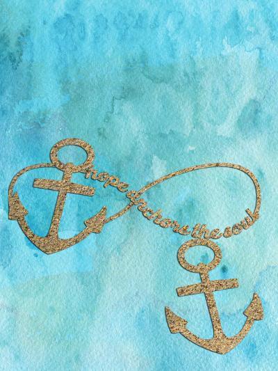 Anchors Aqua-Grab My Art-Art Print
