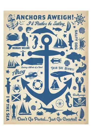 Anchors Away! Art Print by Anderson Design Group | Art com