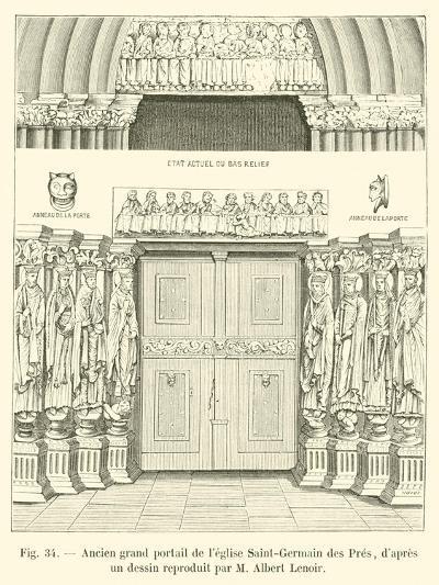 Ancien Grand Portail De L'Eglise Saint-Germain Des Pres--Giclee Print