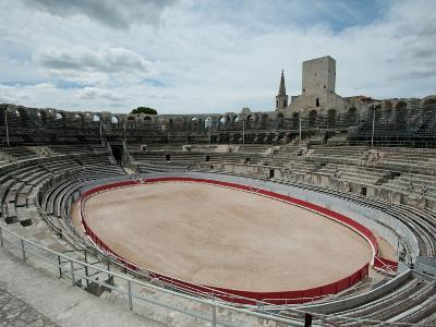 Ancient Amphitheater in a City, Arles Amphitheatre, Arles, Bouches-Du-Rhone, Provence-Alpes-Cote...--Photographic Print