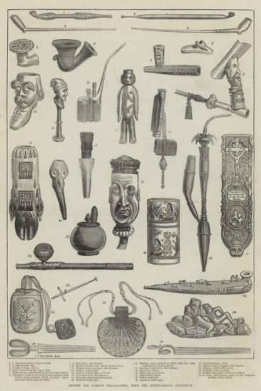 Ancient and Curious Tobacco-Pipes, from the International Exhibition--Giclee Print