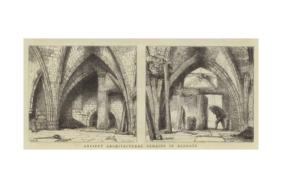 Ancient Architectural Remains in Aldgate-Henry William Brewer-Giclee Print