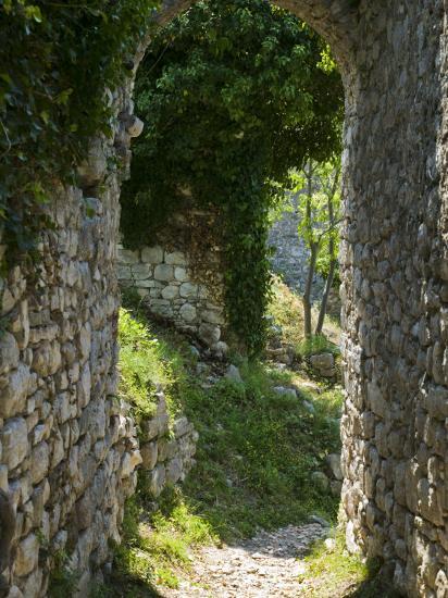 Ancient Archway, Stari, Bar, Montenegro-Walter Bibikow-Photographic Print