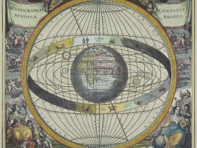 Ancient Astrological Map--Photographic Print