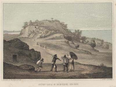 Ancient Castle of Na-Ga-Gus-Ko, Lew Chew, 1855-Wilhelm Joseph Heine-Giclee Print