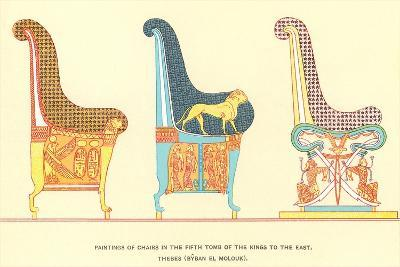 Ancient Chairs from Thebes--Art Print