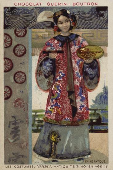 Ancient Chinese Costume--Giclee Print