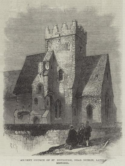 Ancient Church of St Doulough, Near Dublin, Lately Restored--Giclee Print