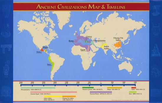 Ancient Civilizations Map Ancient Civilizations Map & Timeline Art Print by | Art.com