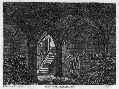 Ancient Crypt, Guildford, Surrey, 1785- Godfrey-Giclee Print