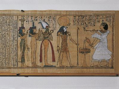 Ancient Egyptian Book of the Dead of Khonsumes--Giclee Print