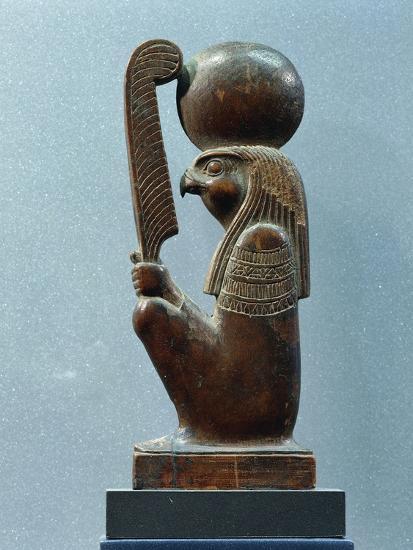 Ancient Egyptian Figurine of Sun God Ra in as Falcon--Giclee Print