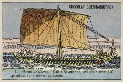 Ancient Egyptian Galley, 14th Century BC--Giclee Print