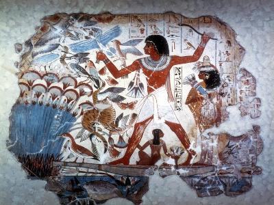 Ancient Egyptian Hunting Wildfowl with a Throwing Stick, C1350 BC--Giclee Print