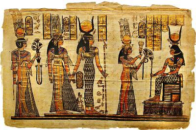 Ancient Egyptian Parchment-Maugli-l-Art Print