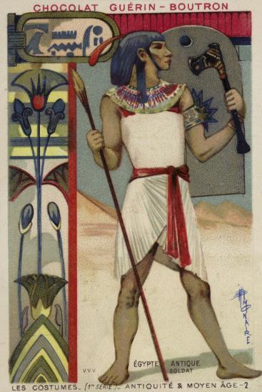 Ancient Egyptian Soldier--Giclee Print