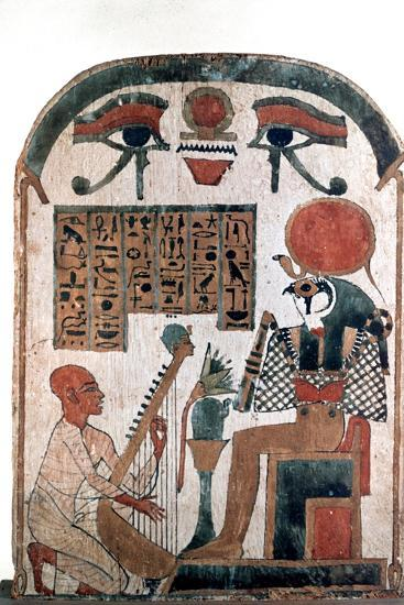 Ancient Egyptian stele, 11th-10th century BC. Artist: Unknown-Unknown-Giclee Print