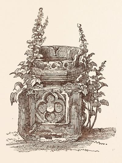Ancient Font at Stratford-Upon-Avon, Stratford Upon Avon, UK--Giclee Print