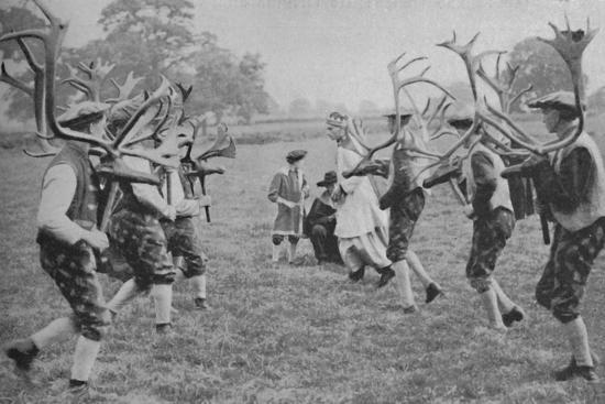 'Ancient Forms of the Dance Still Maintained in England - The Horn Dance', c1935-Unknown-Photographic Print