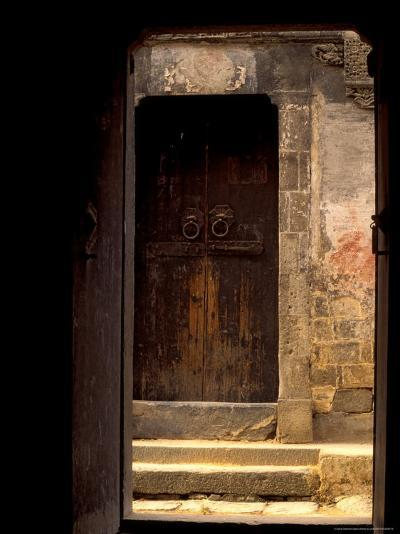 Ancient Gate in Huizhou-styled House, China-Keren Su-Photographic Print