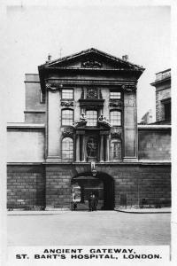 Ancient Gateway, St Bart's Hospital, London, C1920S