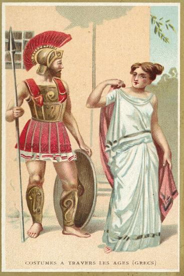 Ancient Greek Costumes--Giclee Print